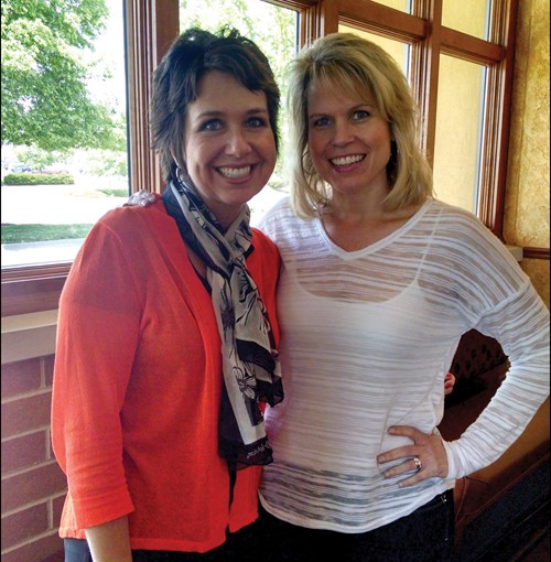 Top Echelon Network Members Maria Hemminger of MJ Recruiters and Angela Marasco of A. Marasco Recruiting