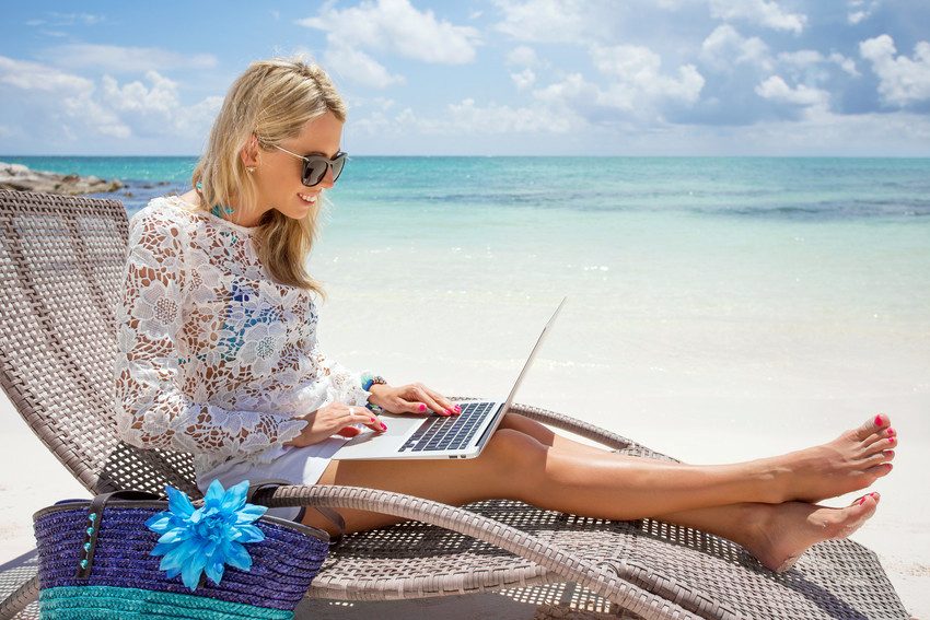 A recruiter on summer vacation