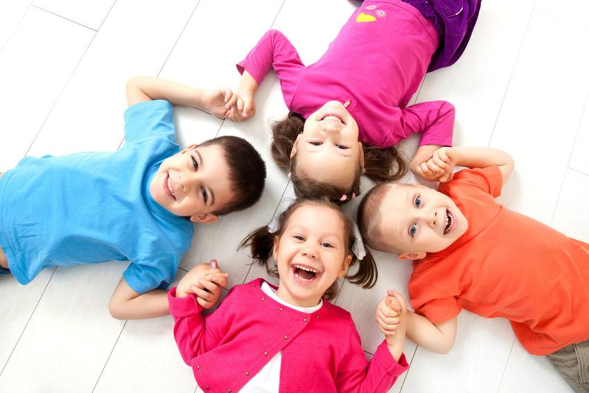 Children forming a friendship