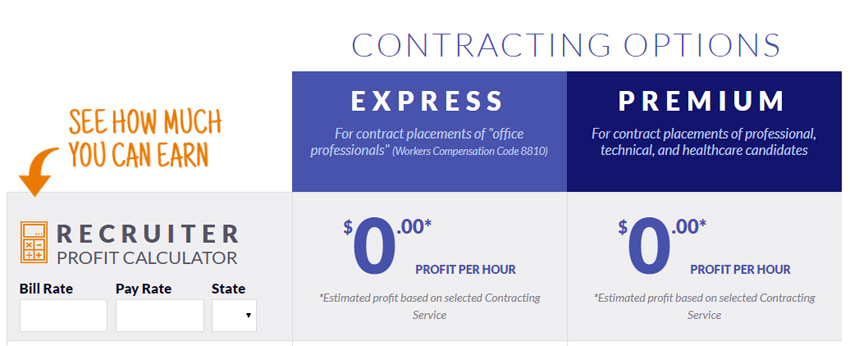 Online quote for contract placements