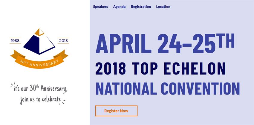 2018 Top Echelon National Convention website