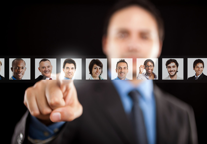 Recruiter choosing the right candidate