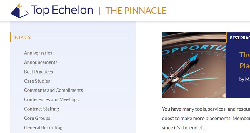 Top Echelon Network's Pinnacle newsletter
